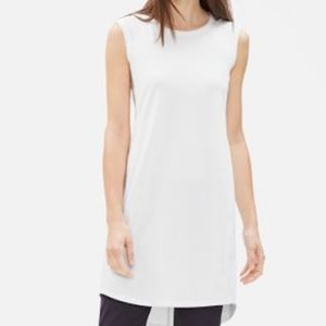 New Eileen Fisher scoop neck stretch jersey dress